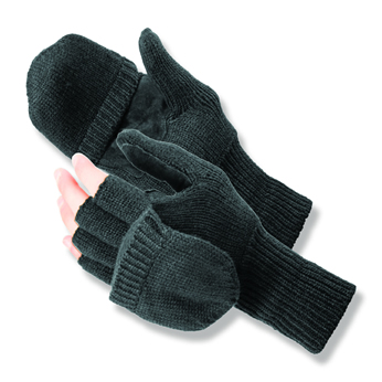 Insulated Convertible Mitten Glove. Thinsulate insulation. L